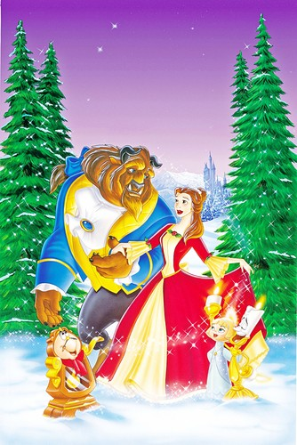 Walt ডিজনি Posters - Beauty and the Beast: The এনচ্যান্টেড বড়দিন