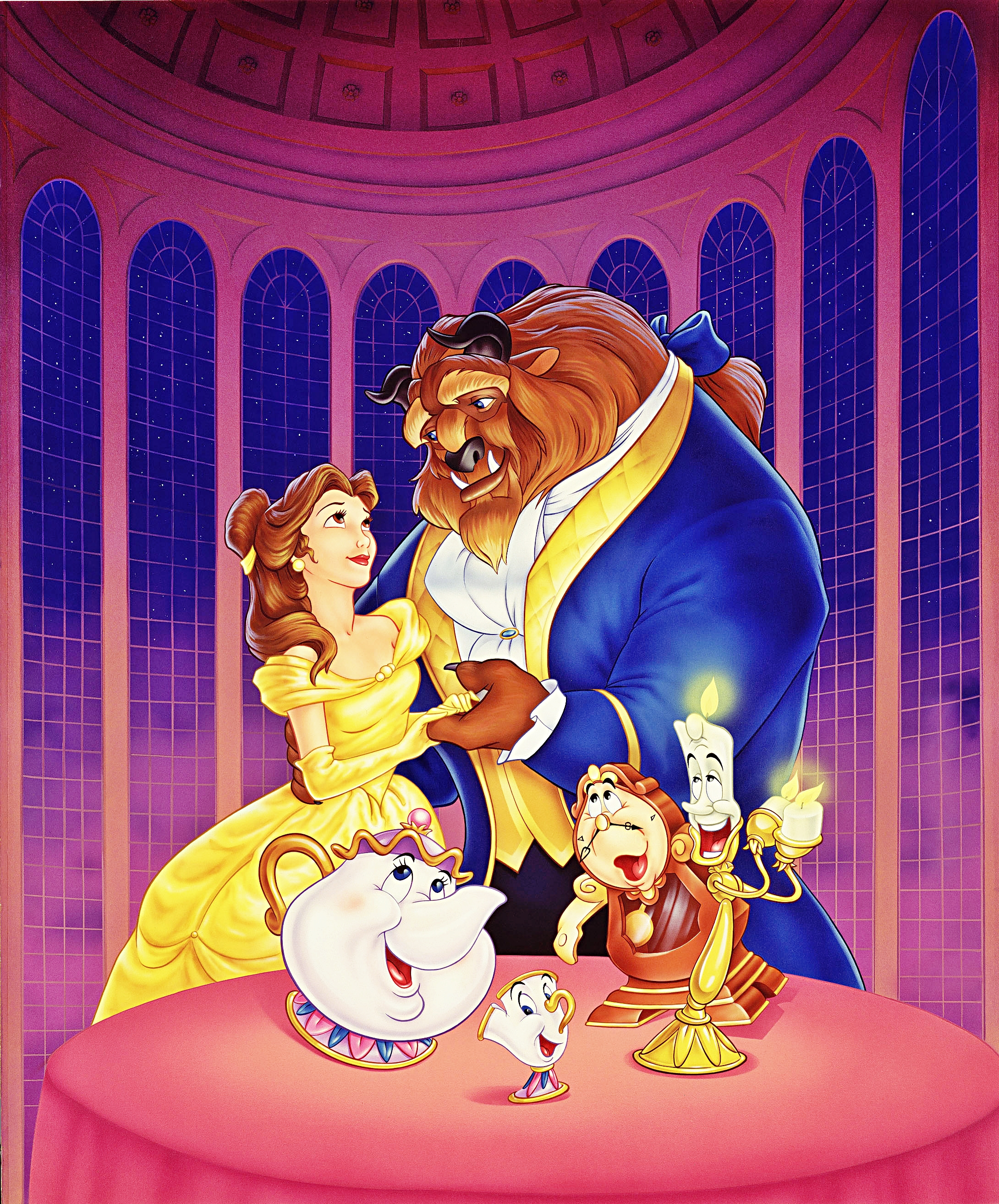 It is a graphic of Astounding Beauty and the Beast Images