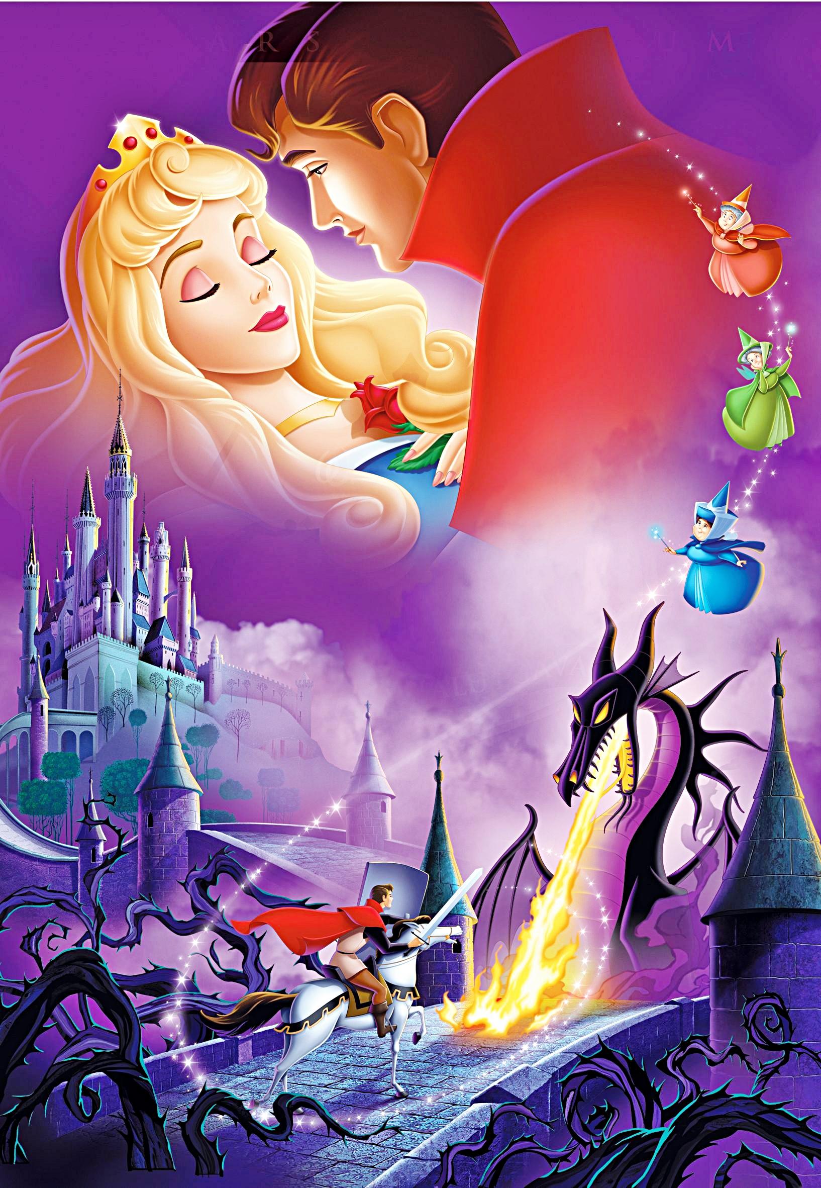Walt ডিজনি Posters - Sleeping Beauty