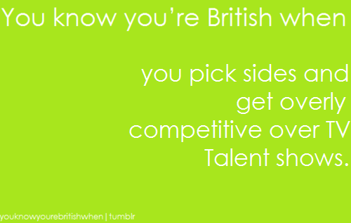 आप know your british when ...