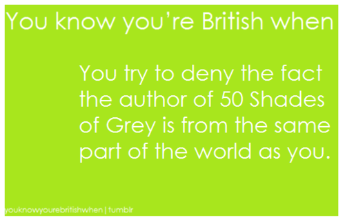 You know your british when ...