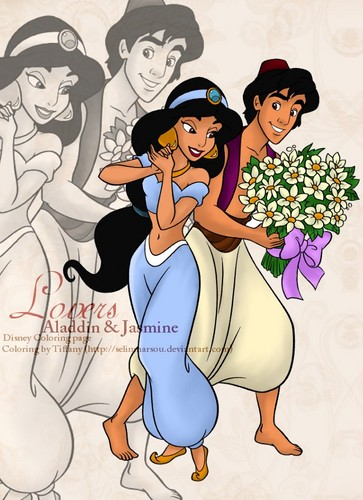 Aladdin wallpaper called aladdin and jasmine