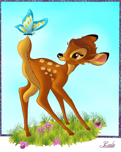 Bambi kertas dinding called bambi