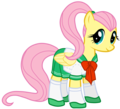 fluttershy in school uniform
