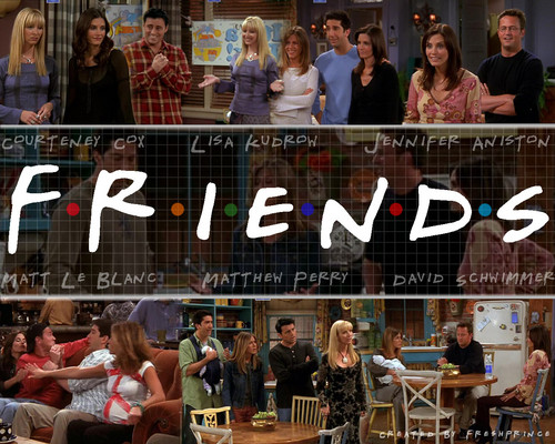 Friends wallpaper probably containing a brasserie called friends