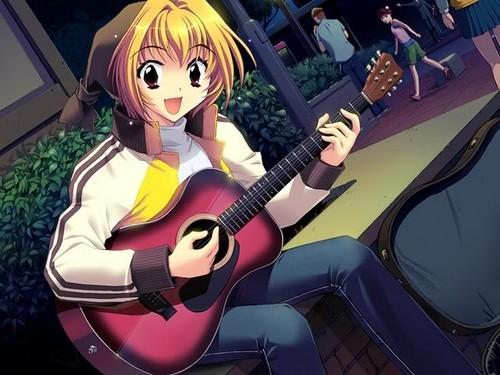 đàn ghi ta, guitar anime girl