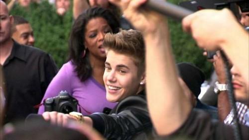 Justin Bieber wallpaper titled justin and opra