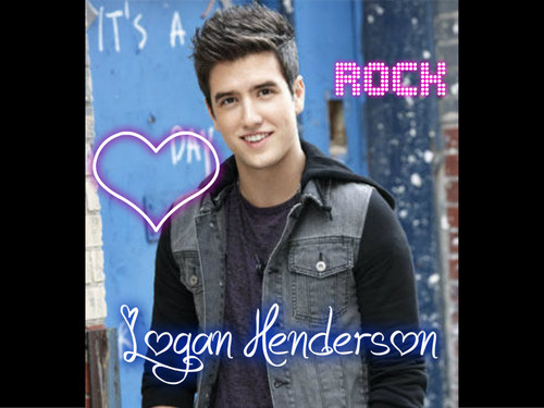 Logan Henderson wallpaper containing a sign titled logan