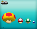 mushrooms small to big - super-mario-bros wallpaper