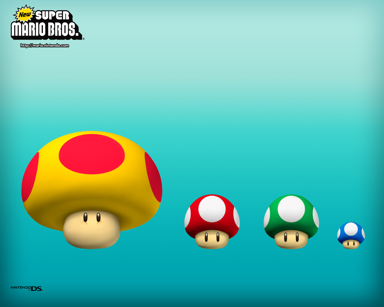 Super Mario Bros. mushrooms small to big
