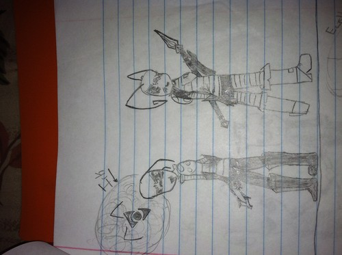 my drawings of invader zim