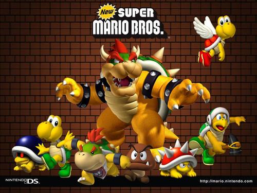 super mario bros wallpaper entitled new super mario bros enemies