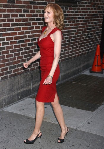 outside the Ed Sullivan Theater in NYC 18.01.2012
