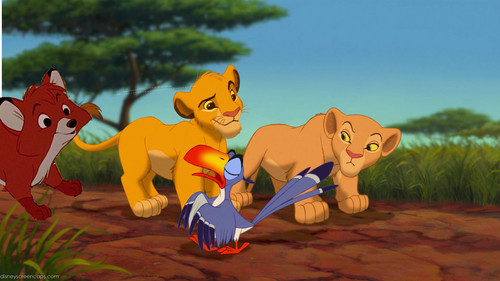 tod, nala, simba and zazu