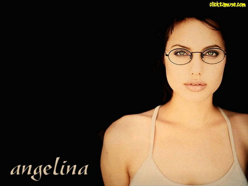 Angelina Jolie wallpaper possibly containing attractiveness, a brassiere, and a portrait called  Angelina