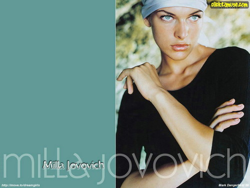 milla jovovich wallpaper possibly containing a sou wester and an outerwear entitled Milla Jovovich