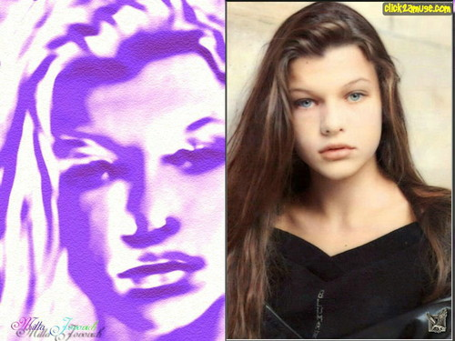 Milla Jovovich Hintergrund probably with a portrait titled Milla Jovovich