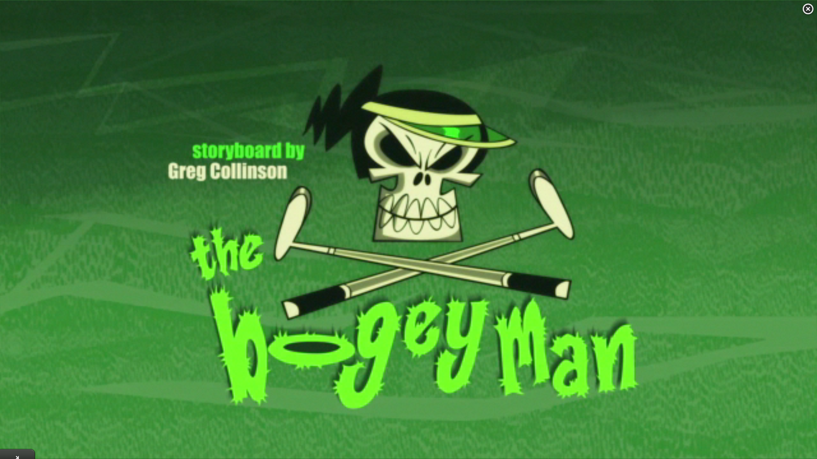 """The Bogey Man"" titre card"