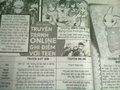 ^_^A newspaper in my country talking 'bout manga - writing photo