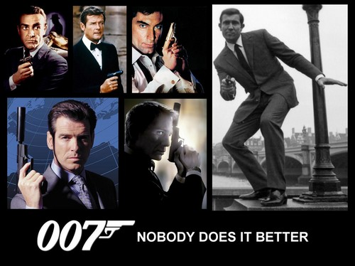 James Bond fond d'écran with a business suit, a suit, and a well dressed person titled 007 Nobody Does it Better