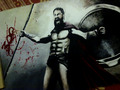 300 movie paint  - gerard-butler fan art