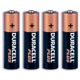 4 duracell batteries
