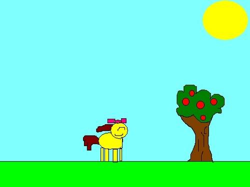 Applebloom in the field