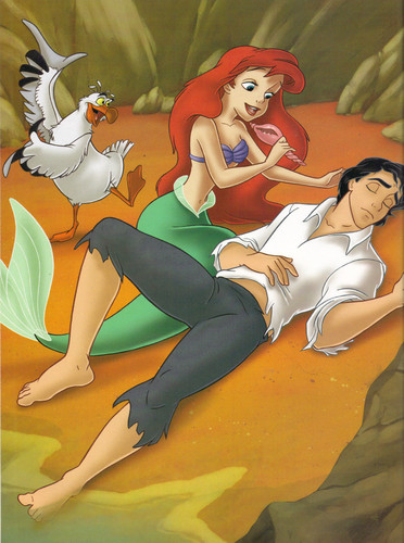 Ariel and Eric wallpaper with anime called Ariel and Eric
