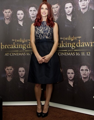 Ashley Green promoting Breaking Dawn in South Africa