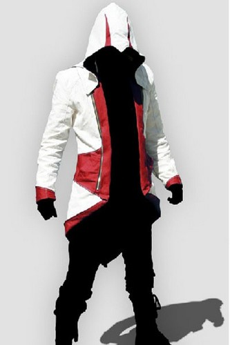 Assassin's Creed 3 Connor Kenway जैकेट Hoodie Cosplay Costume Red Version