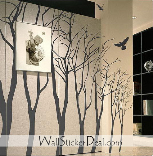Birds and Branch mural Stickers