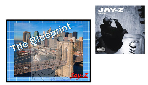 Jay Z wallpaper possibly containing anime titled Blueprint - NEWprint, New Album Cover