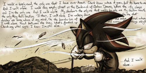Shadow The Hedgehog kertas dinding possibly with Anime entitled Boulevard Of Broken Dreams