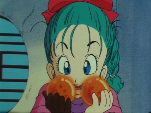 Bulma with Dragon Balls