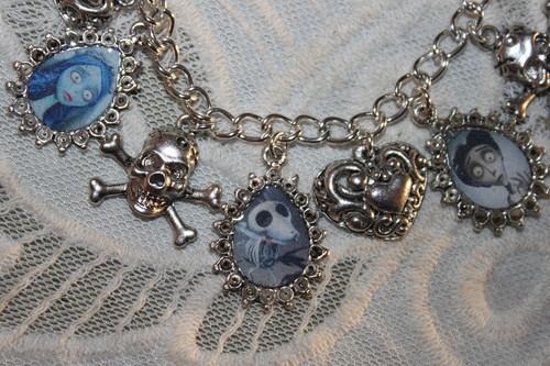 CORPSE BRIDE charm bracelet