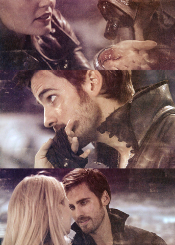 Once Upon A Time wallpaper with anime titled Captain Hook & Emma Swan