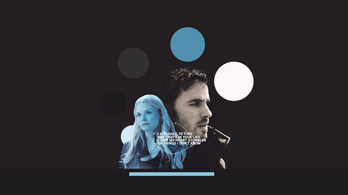 Once Upon A Time wallpaper probably with a concert called Captain Hook & Emma Swan