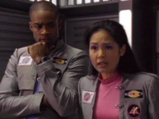 The Power Rangers wallpaper probably containing a green beret, fatigues, and a workwear entitled Cassie and T.J