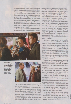 kastil, castle in TV Guide Magazine scan