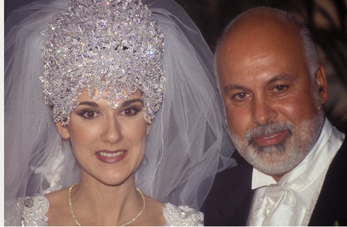 Celine On Her Wedding Tag Back In 1994