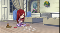 chibi Erza playing cards <3333