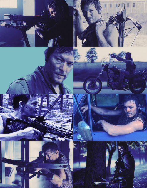 The walking dead color meme daryl dixon blue