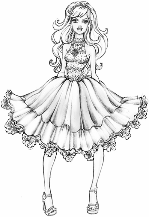free fashion girl coloring pages - photo#33