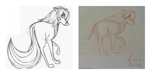 Compared the real drawing and my drawing