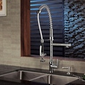 Contemporary Solid Brass Spring Kitchen Faucet