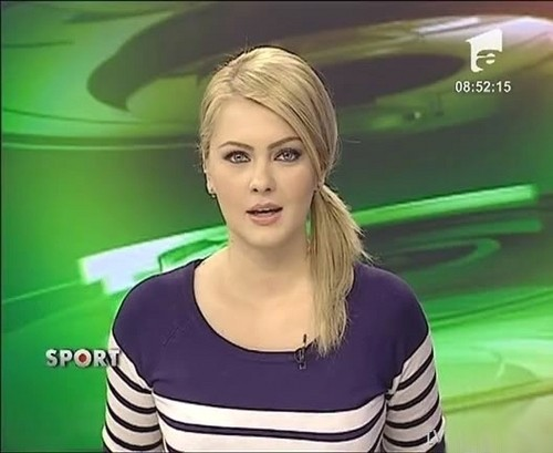 Cristina Dochianu romanian girls TV news women