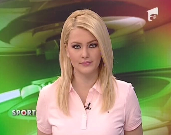 Cristina Maria Dochianu beautiful news anchor romanian women