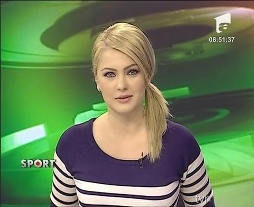 Cristina Dochianu beautiful TV presenter