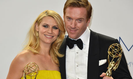 Damian Lewis & Claire Danes after receiving Awards for their roles in Homeland