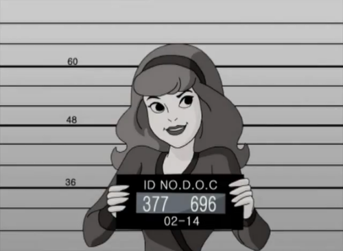 Scooby-Doo achtergrond possibly with anime entitled Daphne's Mugshot